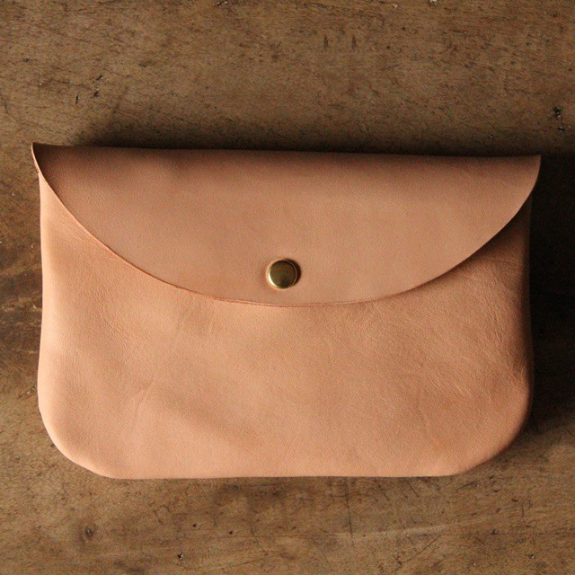 ■【 牛革のcoin purse pocket 】【 M 】ナチュラルNatural