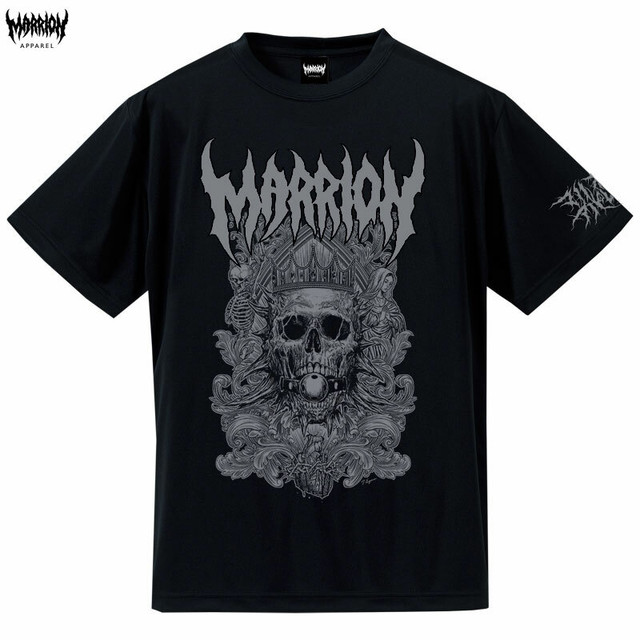 Death Marrion Dry Silky Touch Tee (Black×Silver)