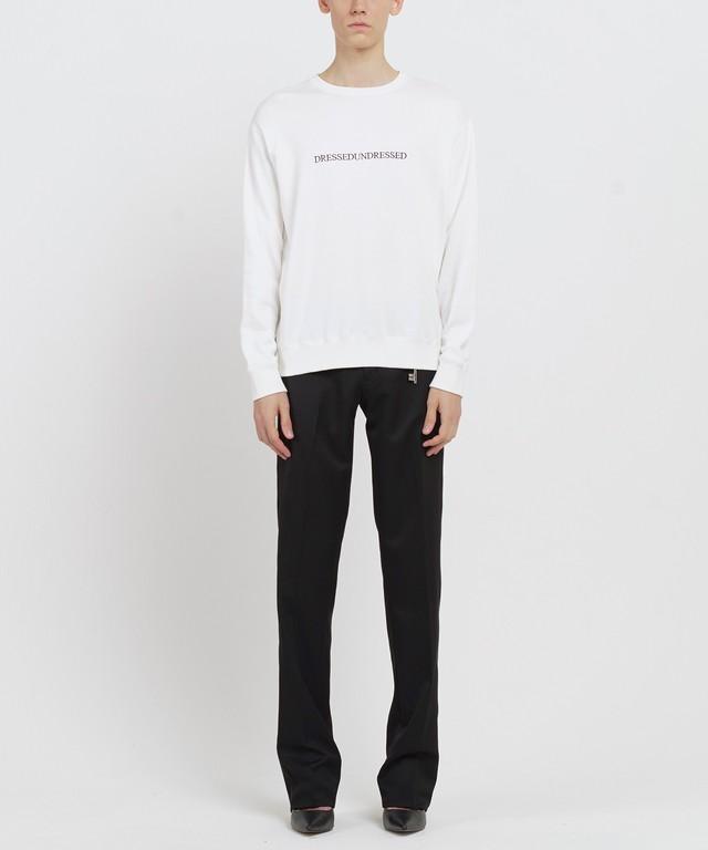 White Logo Text Sweater