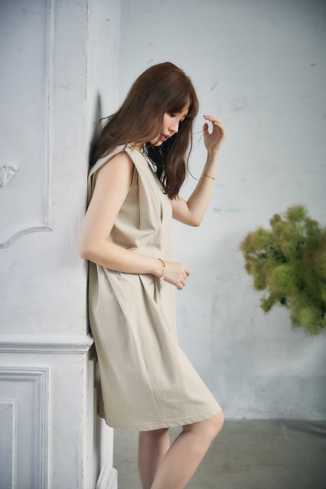 Sleeveless Cotton Tee Dress