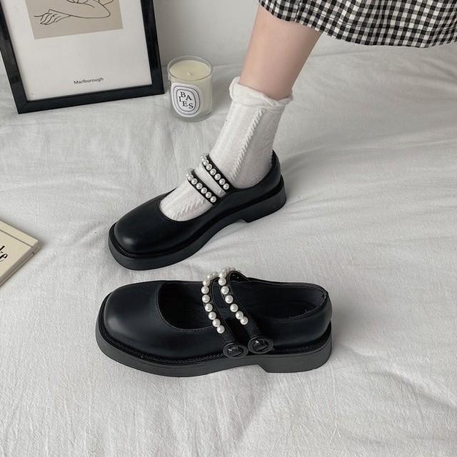 パンプス パール付きシューズ ダイヤ靴 SHS582402