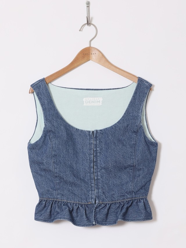 【HOLIDAY】DENIM BUSTIER
