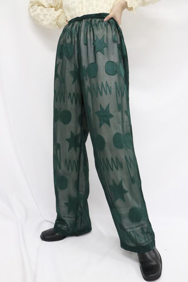 see-through design pants / 5SSPT07-10