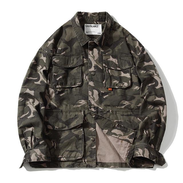 【UNISEX】迷彩柄 マルチポケット ジャケット