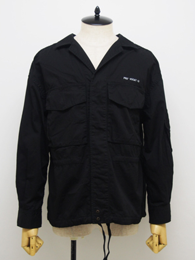EGO TRIPPING (エゴトリッピング) LAX ARMY JACKET pt / BLACK   613305-05
