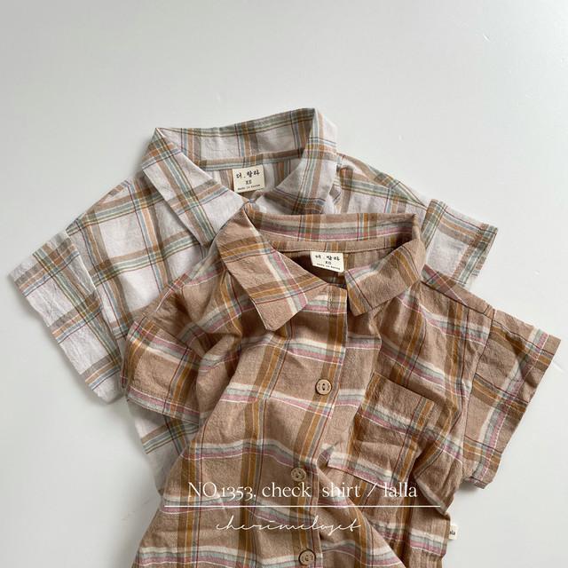 NO.1353. check  shirt / lalla