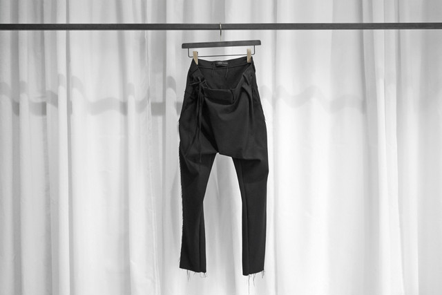 ASKYY / BONDING TROUSERS / BLK