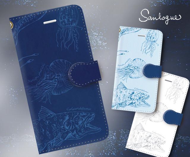 深海生物のスマホ / iPhoneケース手帳型