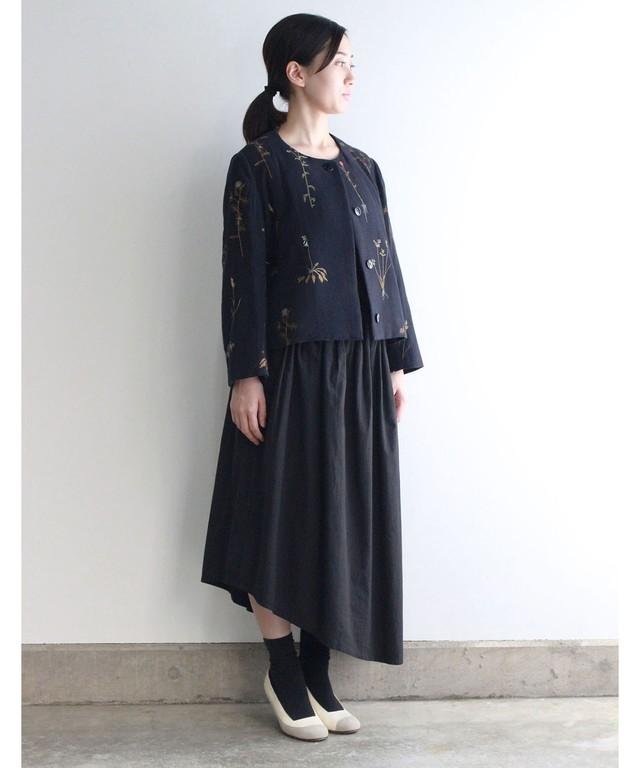 【予約商品】ボタニカル刺繍ジャケット  (evi506  NVY)