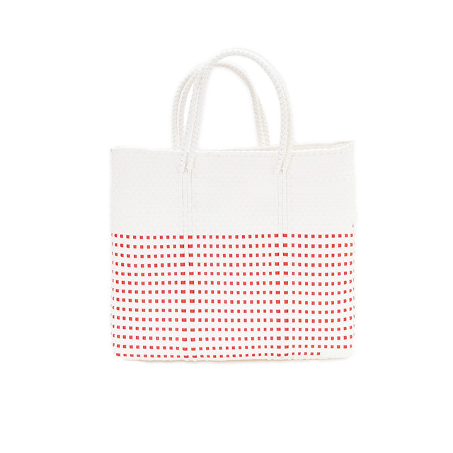 MERCADO BAG HALF MINI CHECK - White(S)