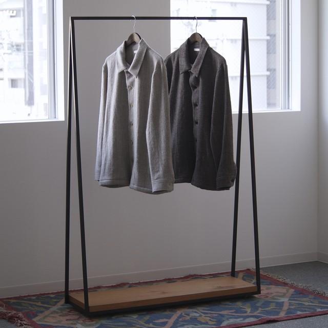 niuhans / Shetland Wool Linen Herringbone Shirt Jacket