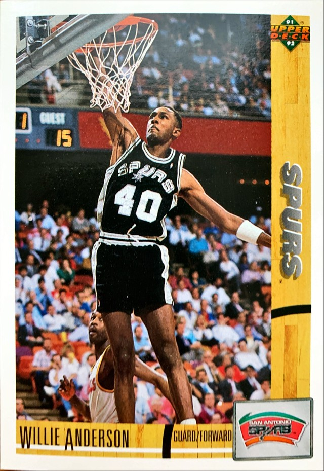 NBAカード 91-92UPPERDECK Willie Anderson #282 SPURS