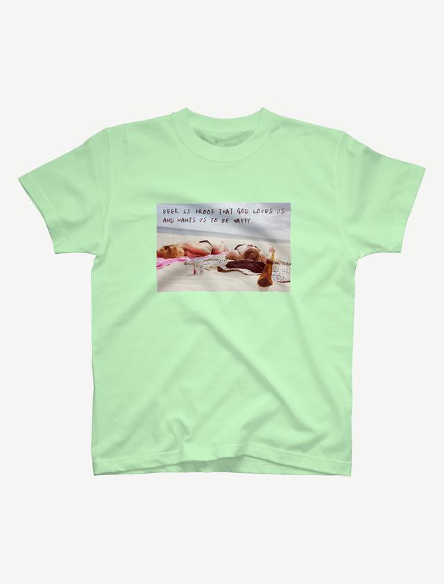 【悩み無用の開放ビーチ】Tシャツ(メロン)