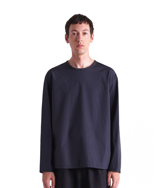 LEMAIRE WOVEN T-SHIRT Carbon M 201 TO121 LF353