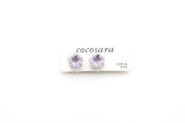 有田焼ノンホールピアス ハイビスカス(薄紫)