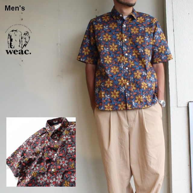 weac. フラワープリントシャツ Florist 2カラー