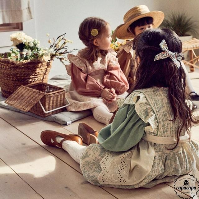 «sold out»«pour enfant» エンブラウス En blouse