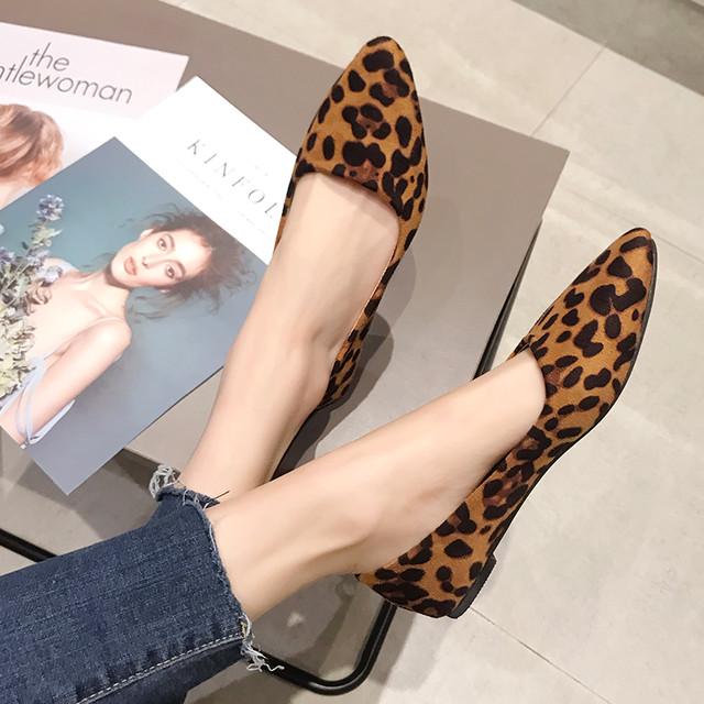 【shoes】ファッションファー付き暖かいフラットシューズ