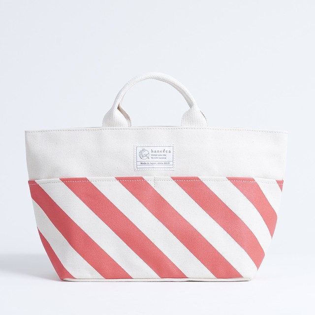 picnic tote/vermilion x stripe, scale, dot ピクニックトート / 朱 x 縞・鱗・水玉