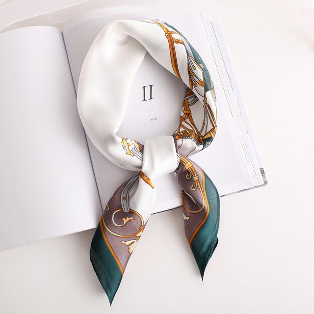 【小物】特別デザイン オシャレ 配色 プリント ヘアアクセサリー スカーフ44555693