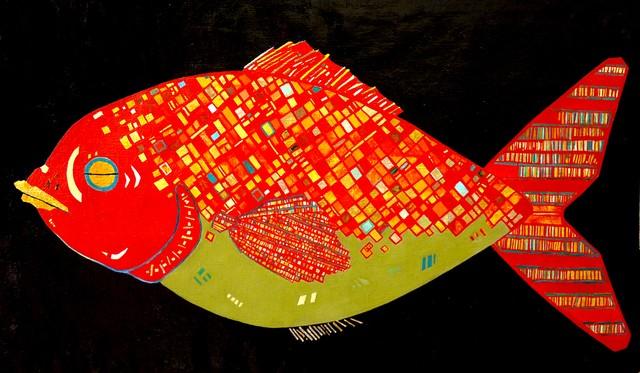 油彩画*サカナ* 2006