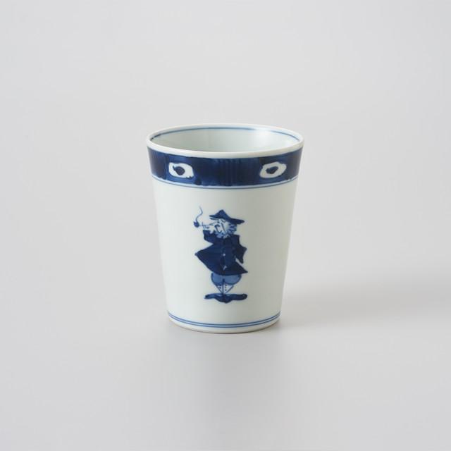 【青花】渕濃帆船 ミルクカップ(大)