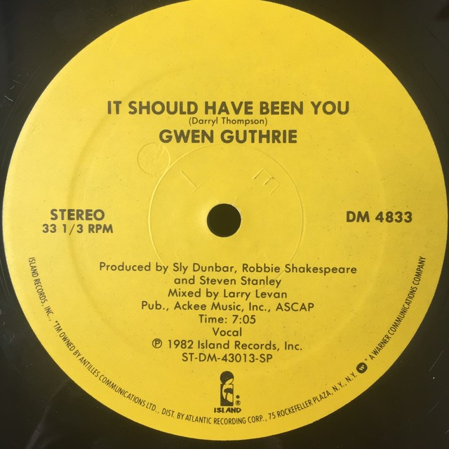 Gwen Guthrie ‎– It Should Have Been You