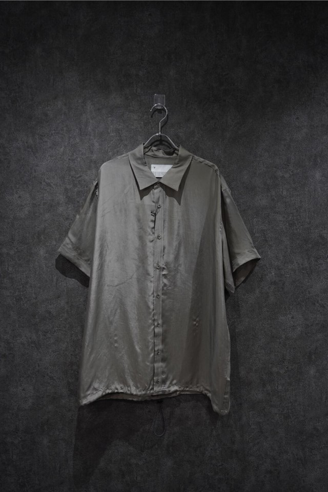 VOAAOV CUPRO DYED TWILL H/S SHIRTS GRY