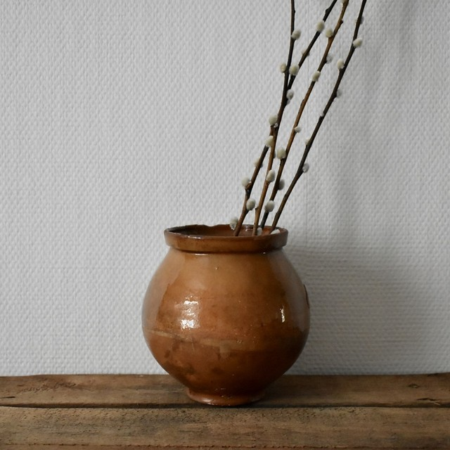 Brown Glazed Redware pot