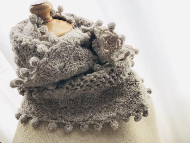 『玉編みいっぱいのマフラー』 Autumn/Winter by doliminue/ドリミーヌ