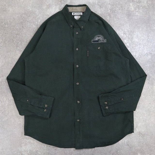 Columbia embroidery green shirt