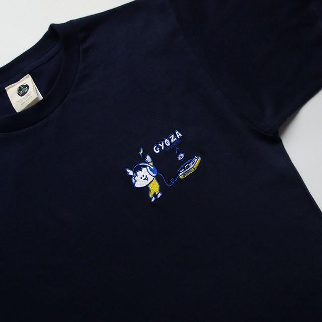 Tシャツ <刺繍> レコード GYOZA