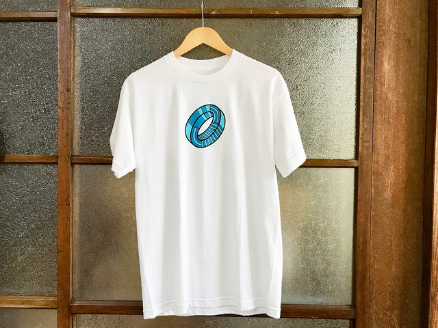 "LEILOW HAWAII ""CIRCLE"" TEE (WHITE)"