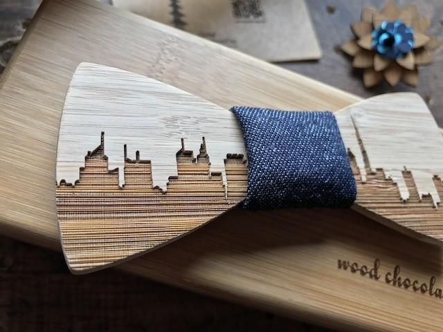 木製 蝶ネクタイ #CityContrast Art - メイン画像