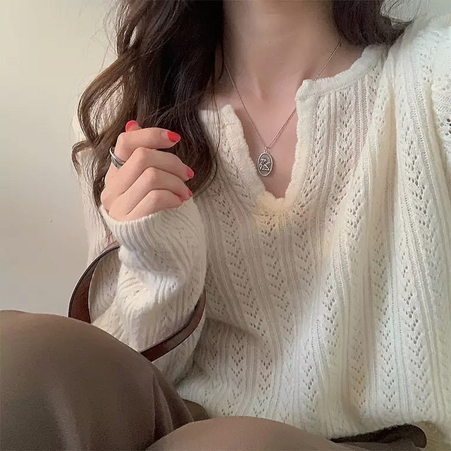 simple spring knit 2color