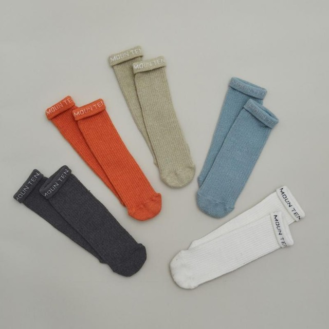 MOUN TEN. logo tube socks キッズ〜大人サイズ兼用 MOUNTEN. [MT201020]