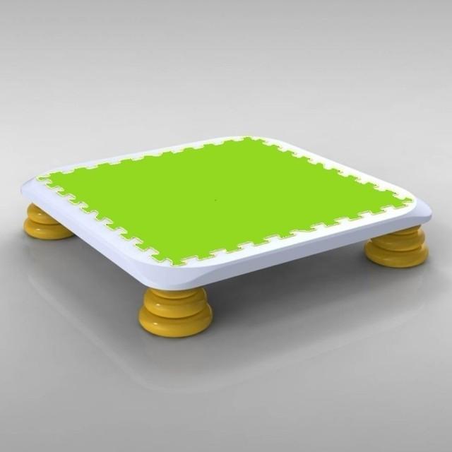 バンバンボード(緑色)子供用やわらかスプリング 安全 で 音が響きにくい 人気 の 室内・家庭用 の おすすめトランポリン Green-S プレゼント