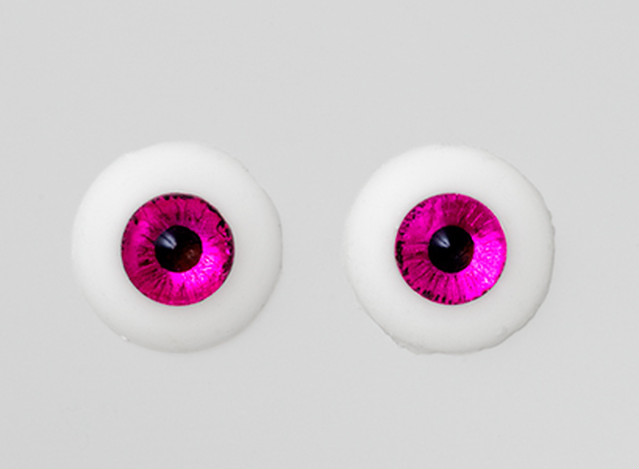 Silicone eye - 19mm Metallic Mauve Fuchsia