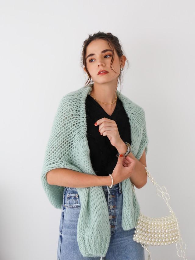 mohair low-gauge knit(mint)