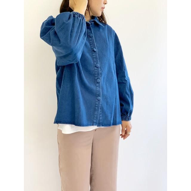WHOO-AA・くるみ釦デニムシャツ(W1S7003)