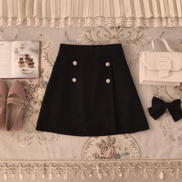 【meltie】pearl button skirt