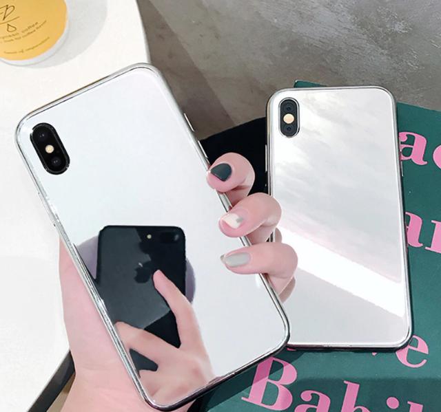 【お取り寄せ商品、送料無料】ミラータイプ iPhoneケース