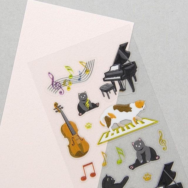 フレークシール「 箔押し 楽器」マスキングテープ素材