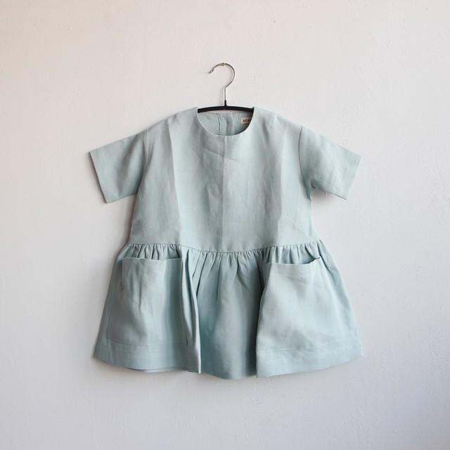 《AS WE GROW 2020SS》Pocket dress short sleeve / sage