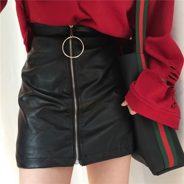 リングZIP ハイウエスト スカート b205