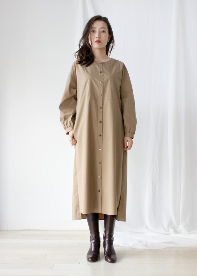 ウェザーストレッチシャツ ワンピース/ベージュ No.98231450/30