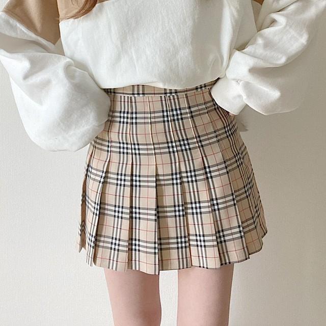pleats mini skirt (1/27-1)