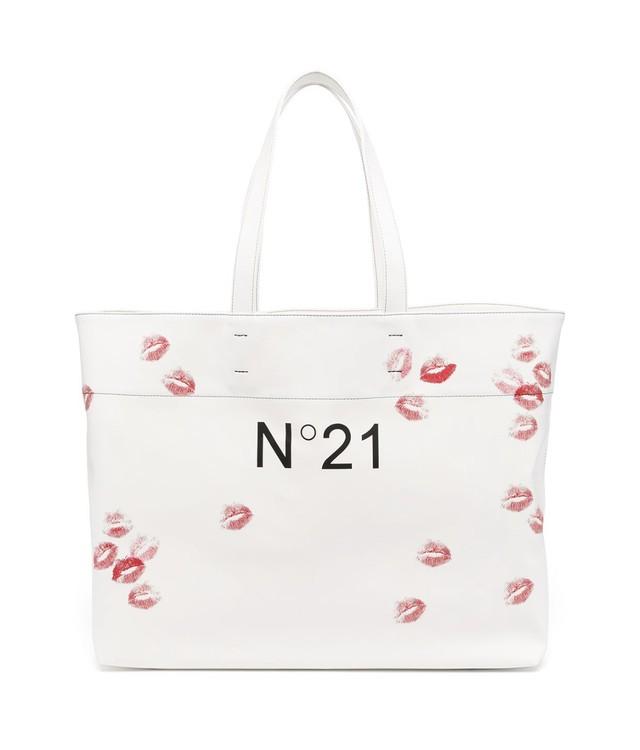 N°21 KISS PRINT LOGO TOTE