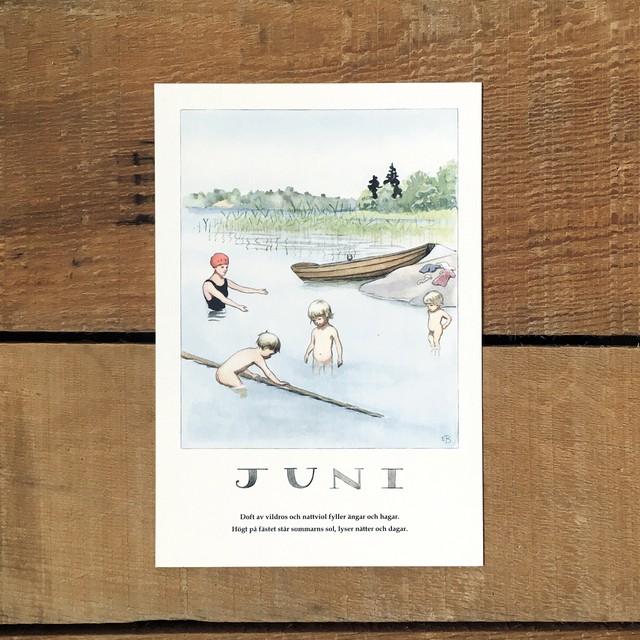 ポストカード「6月@JUNI(いちねんのうた - 06)」