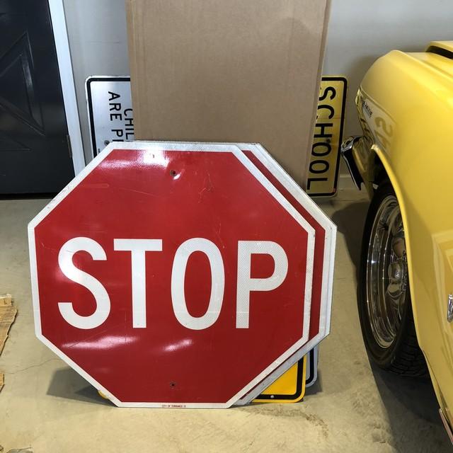 STOP 30in 3 アメリカンロードサイン トラフィックサイン 道路標識